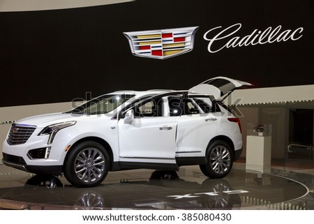 CHICAGO, IL - FEBRUARY 15: Cadillac XT5 2017 at the annual International auto-show, February 15, 2016 in Chicago, IL