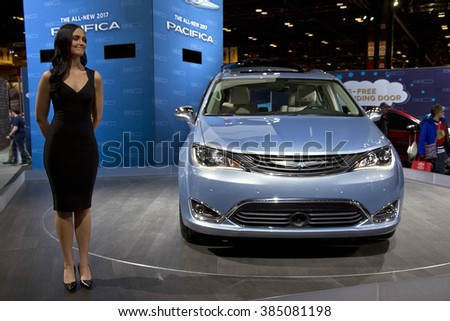 CHICAGO, IL - FEBRUARY 15: Chrysler Pacifica 2017 at the annual International auto-show, February 15, 2016 in Chicago, IL