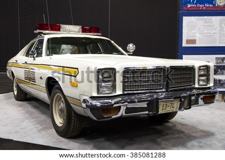 CHICAGO, IL - FEBRUARY 15: Dodge retro police car at the annual International auto-show, February 15, 2016 in Chicago, IL