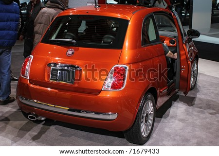 CHICAGO, IL - FEBRUARY 20: FIAT 500 Lounge at the International auto-show on February 20, 2011 in Chicago, IL