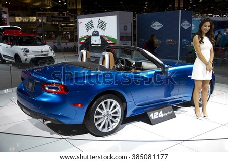 CHICAGO, IL - FEBRUARY 15: FIAT Spider 2017 at the annual International auto-show, February 15, 2016 in Chicago, IL