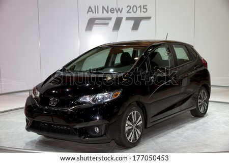 CHICAGO, IL - FEBRUARY 8: Honda FIT 2015 at the annual International auto-show, February 8, 2014 in Chicago, IL
