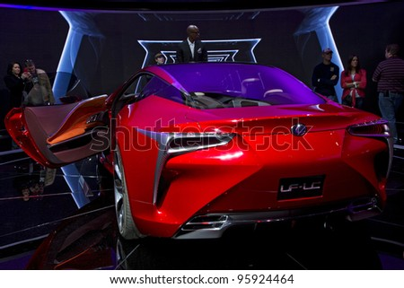 CHICAGO, IL - FEBRUARY 19: Lexus LF-LC concept car at the annual International auto-show, February 19, 2012 in Chicago, IL
