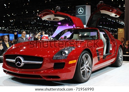 Sls amg stock images royalty free images vectors for Mercedes benz chicago