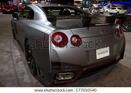 CHICAGO, IL - FEBRUARY 8: Nissan Nismo at the annual International auto-show, February 8, 2014 in Chicago, IL - stock photo