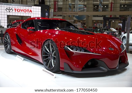 CHICAGO, IL - FEBRUARY 8: Toyota FT-1 at the annual International auto-show, February 8, 2014 in Chicago, IL