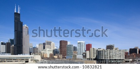 Chicago, Il  from the south side. - stock photo