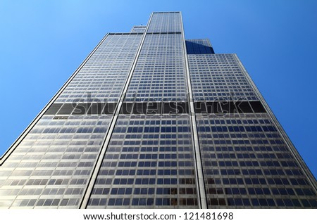 CHICAGO, IL - MAY 4: Willis Tower, 108 floors (formerly named Sears Tower until 2009) was the tallest building in the world for nearly 25 years when built in 1973, Chicago, May 4, 2011. - stock photo