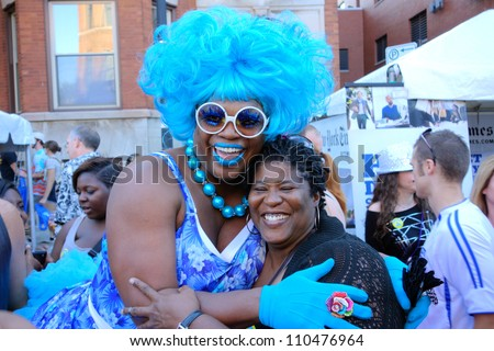 CHICAGO, ILLINOIS- AUGUST 11: Gay, lesbian, bisexual and transgendered men and women attend Market Days on August 11, 2012 in Chicago, Illinois.
