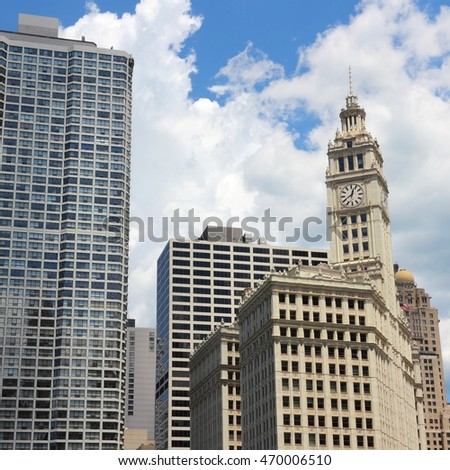 Chicago, Illinois in the United States. City skyline.