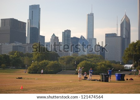 CHICAGO - JUNE 18: The city of Chicago was incorporated as a city in 1837. It is the third most populous metropolis in the United States. Pictured on June 18, 2011 in Chicago, Illinois. - stock photo