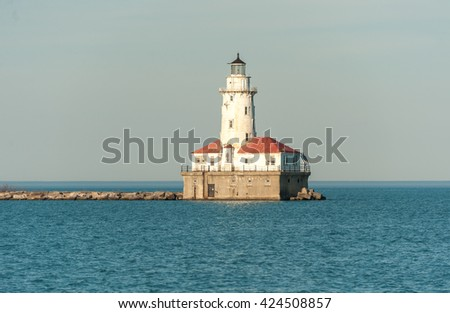 Chicago Lighthouse. Michigan Lake