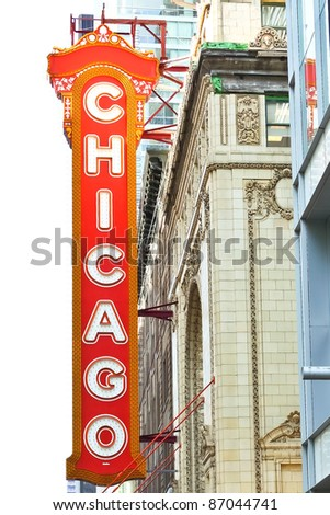 CHICAGO - MAY 15: The famous Chicago Theater on State Street on May 15, 2009 in Chicago, Illinois. Opened in 1921, the theater was renovated in the 1980's at a cost of $4.3 million. - stock photo