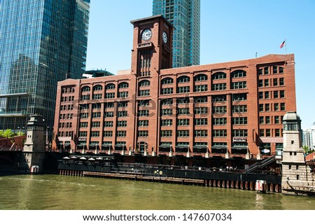 CHICAGO - MAY 16: The historic Reid Murdoch Center on May 16, 2013 in Chicago. The Reid Murdoch Center was built in 1914 and is now home to World of Whirlpool. - stock photo