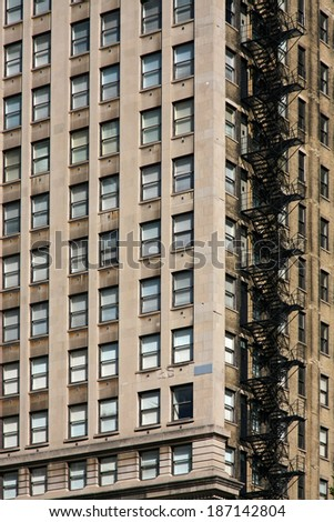 Chicago old building - stock photo