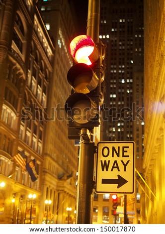 Chicago One Way - stock photo