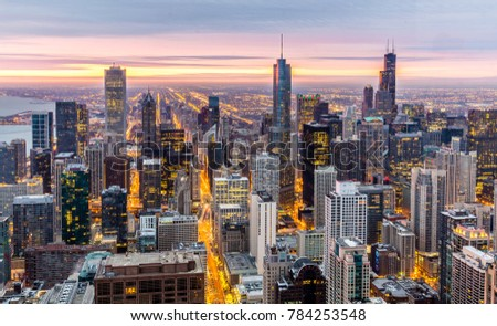 Chicago Panorama at Sunrise