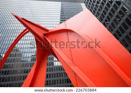 Chicago Red - stock photo