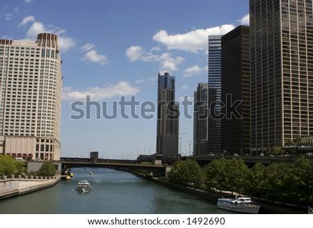 Chicago River - stock photo
