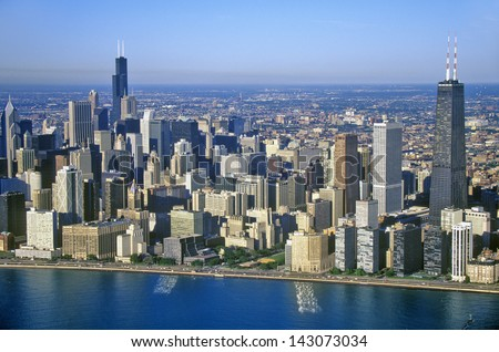 Chicago Skyline, Chicago, Illinois - stock photo