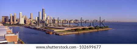 Chicago Skyline, Filtration Plant, Illinois