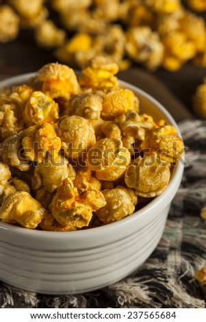 Chicago Style Caramel and Cheese Popcorn Mixture - stock photo