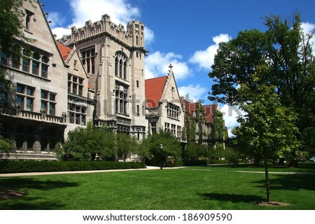 Chicago University - stock photo