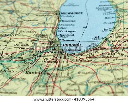 Chicago Map Stock Images RoyaltyFree Images Vectors Shutterstock
