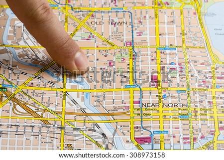 Chicago Map Banque dImage Libre de Droit Photos Vecteurs et