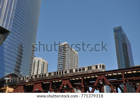 Chicago, Usa - June, 17, 2016: downtown of Chicago
