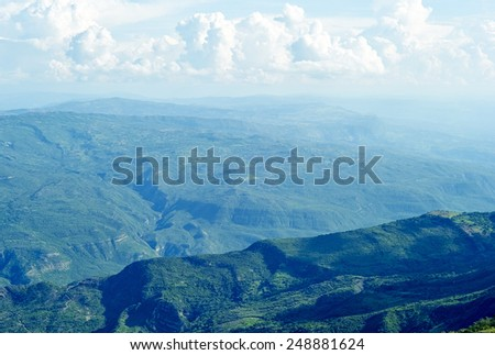 Chicamocha Canyon, Department Santander in Colombia - stock photo