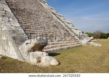 Chichen Itza archaeological site maya yucatan peninsula of mexico unesco heritage