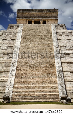 Chichen Itza, great pyramid - stock photo