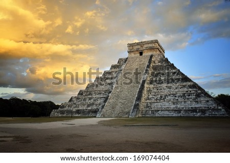 Chichen Itza, Mexico - Mayan Ruin - stock photo