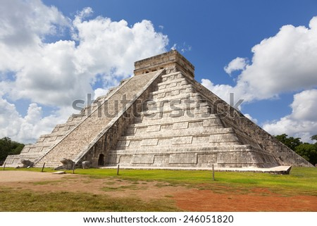 Chichen itza pyramid, Mexico - stock photo