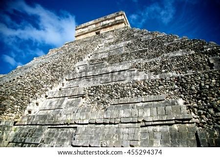 Chichen Itza Pyramids in Mexico - stock photo