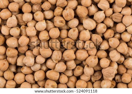 Chick-pea beans for background. Close up shot