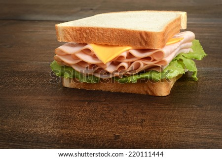 chicken and cheese sandwich - stock photo