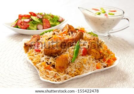 Chicken Biryani-2 - stock photo