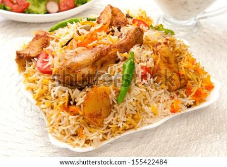Chicken Biryani-6 - stock photo