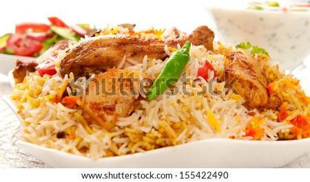 Chicken Biryani-3 - stock photo