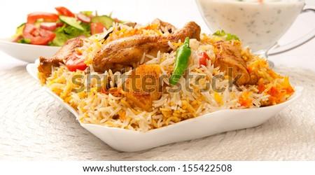 Chicken Biryani-11 - stock photo