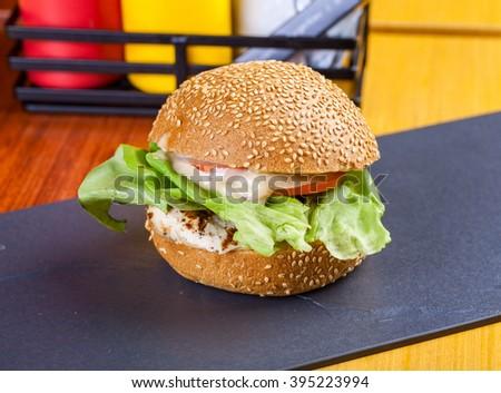 Chicken Burger - stock photo