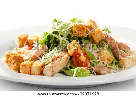 Chicken Caesar Salad - stock photo