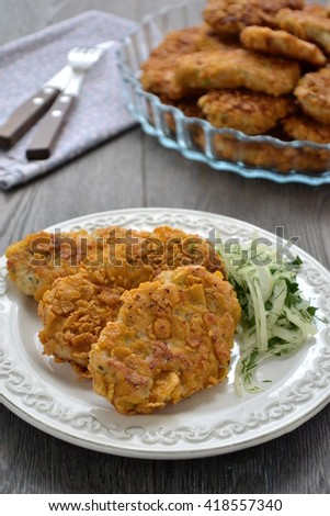 Chicken Cutlets  Cornflake Crusted