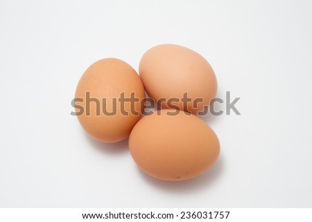 Chicken Egg with white background