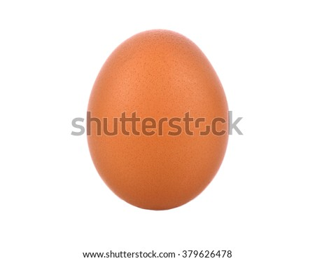 Chicken eggs isolated on white background . - stock photo