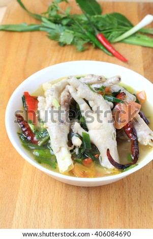 Chicken Feet Spicy Soup