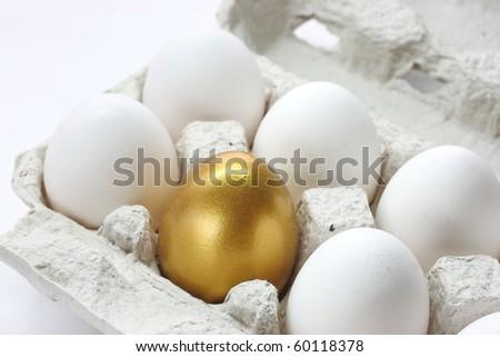 Chicken golden egg - stock photo
