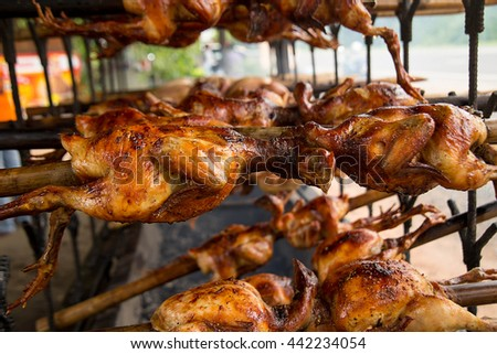 chicken, grilled, food, white, meat, roast, roasted, view, meal, grill, background, isolated, top, cooked, turkey, nobody, poultry, above, bbq, christmas, horizontal, plate, baked, whole, holiday - stock photo
